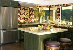 green-kitchen-cabinet